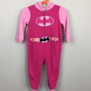 Other - DC comics batman girls sleeper hooded 18-24 mos